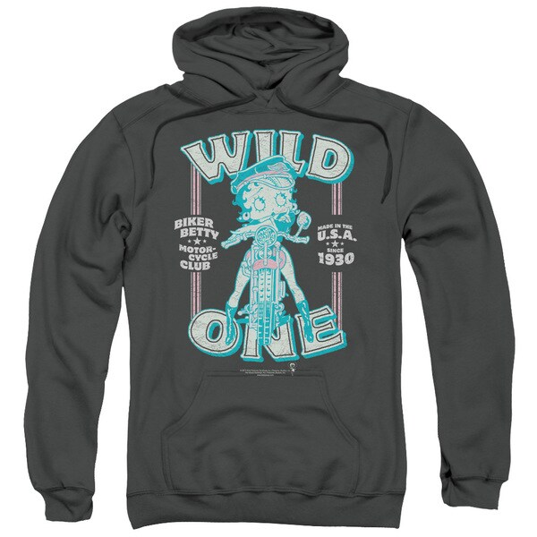 Charcoal Boop/Wild One Pullover Hoodie