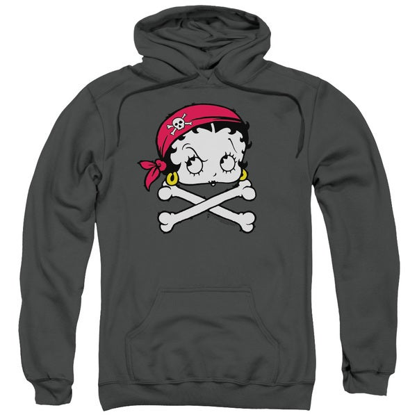 Boop/Pirate Adult Pull-Over Hoodie in Charcoal