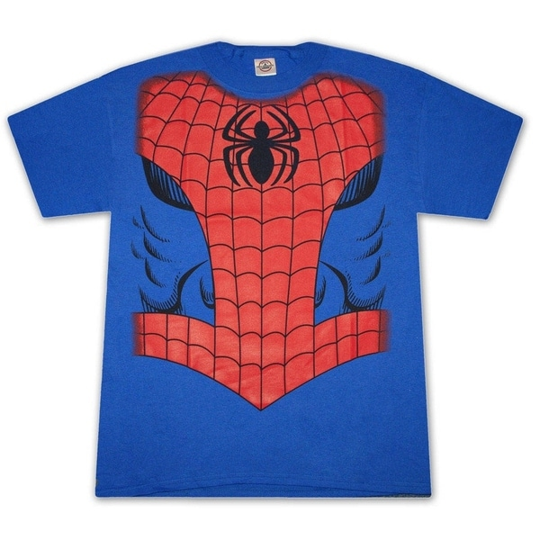 Royal Blue Spiderman Suit Costume Halloween Graphic Tee Shirt 18644686