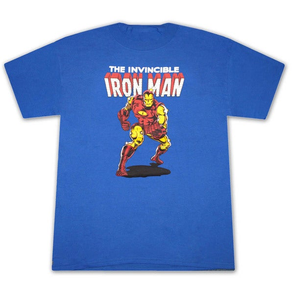 Men's Iron Man Invincible Retro Classic Marvel Superhero Graphic T-shirt