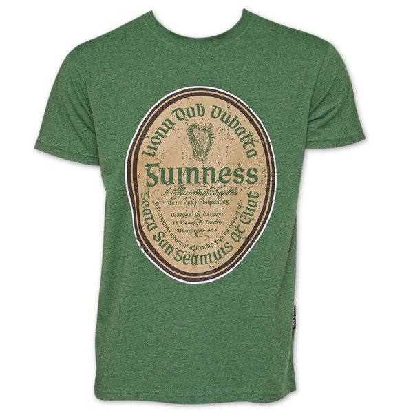 Guinness Green Cotton Gaelic Label T-shirt