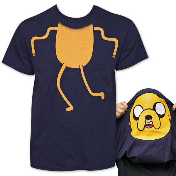Adventure Time Jake Flip-Up Blue Reversible T-Shirt