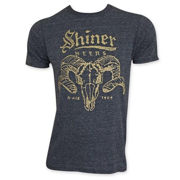 Black Shiner Beer Ram Horns T-shirt