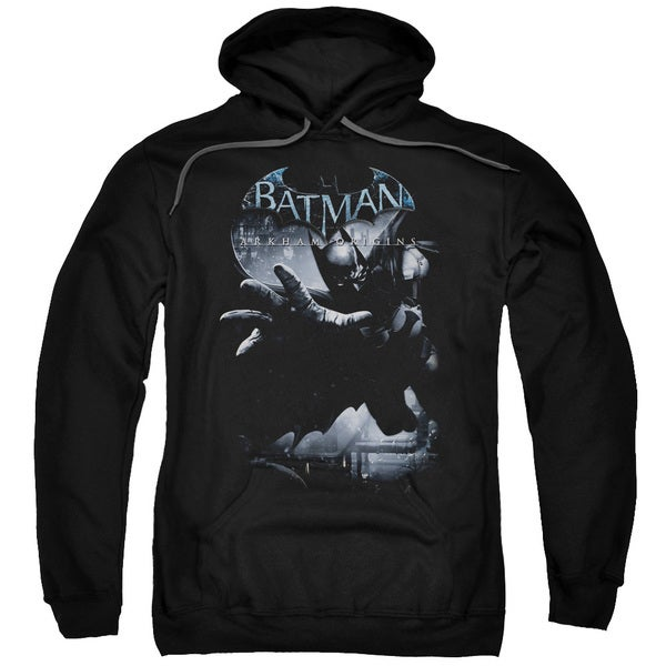 Adult's Black Cotton/Polyester Batman Arkham Origins/Out Of The Shadows Pull-over Hoodie