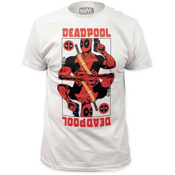 Men's White Cotton Deadpool Wildcard T-shirt