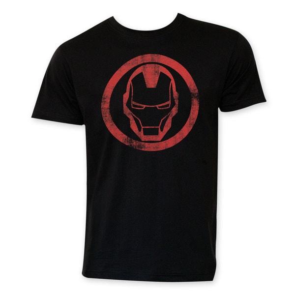 Men's Iron Man Black Circle Logo T-shirt