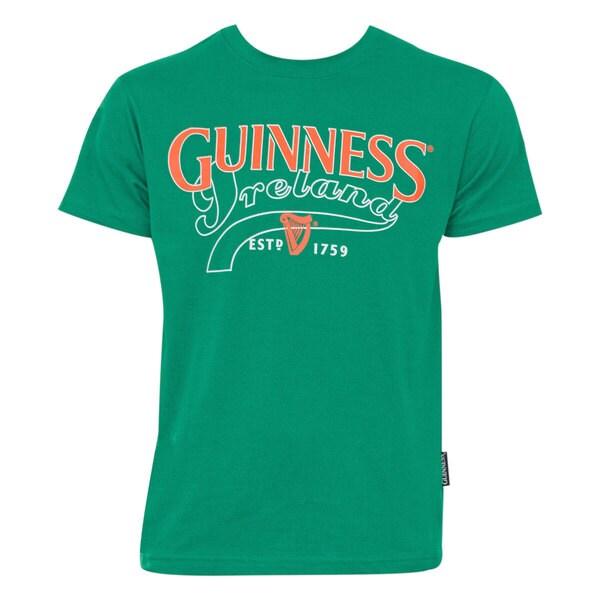 Men's Guiness Ireland Green Cotton Crewneck T-shirt