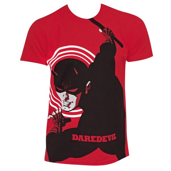 Men's Daredevil Michael Cho Art Red Cotton Shirt 18645316