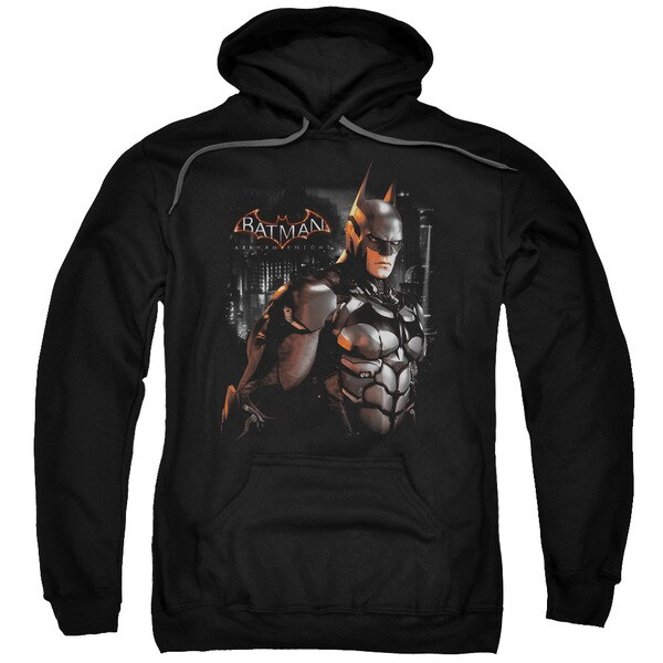 Batman Arkham Knight/Dark Knight Adult Pullover Hoodie in Black