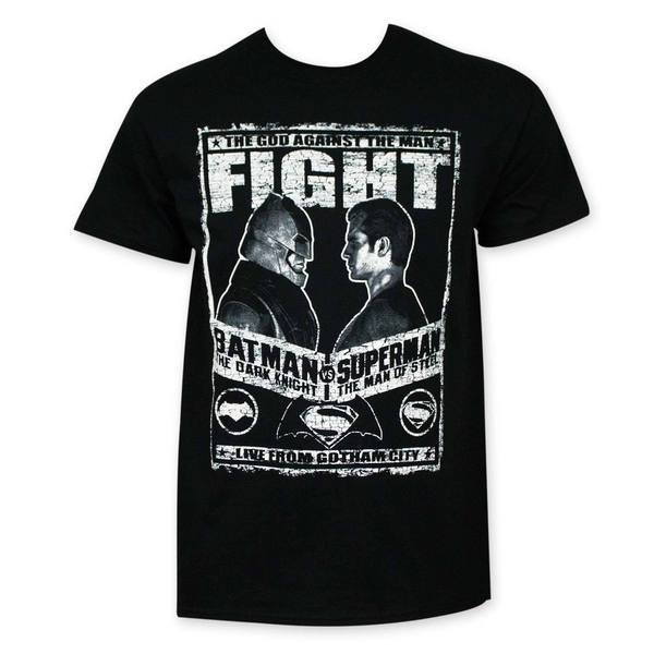Batman vs Superman Fight Poster Tee Shirt