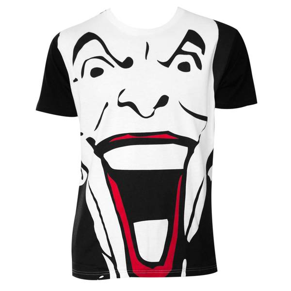 Batman Black and White Giant Joker Face T-Shirt