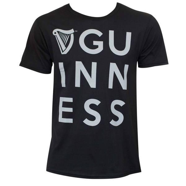 Guinness Dublin Vision Black Tee Shirt