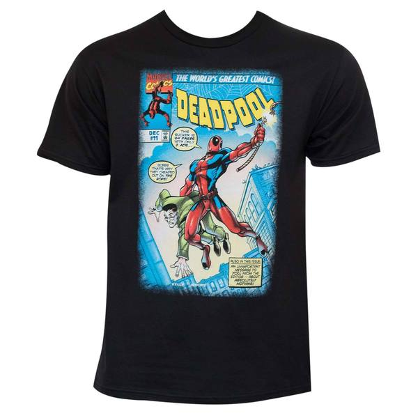 Deadpool Strong Pool Black T-Shirt