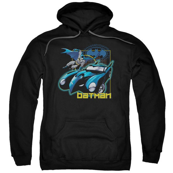 Batman/Nice Wheels Black Adult Pullover Hoodie