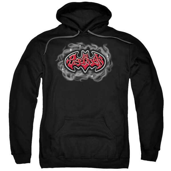 Black Batman/Hip Hop Logo Pullover Hoodie