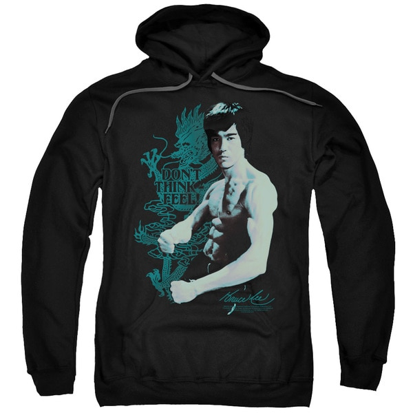 Bruce Lee 'Don't Think, Feel' Adult Black Pull-Over Hoodie