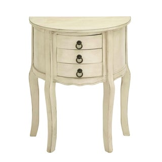 Wood Night Stand In Off White Shade And Smooth Finish