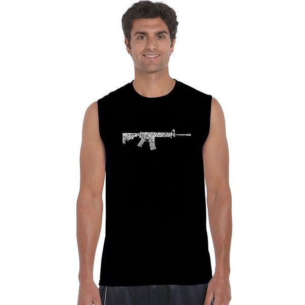 Men's AR15 2nd Amendment Word Art Sleeveless T-shirt