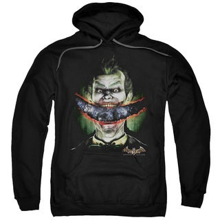 Adult's Black Cotton/Polyester Batman Aa/Crazy Lips Pull-over Hoodie