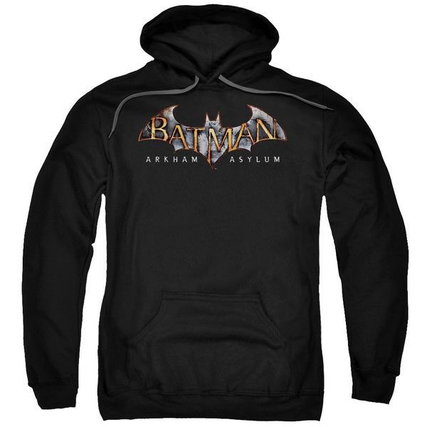 Batman Aa/Arkham Asylum Logo Adult Black Pull-over Hoodie