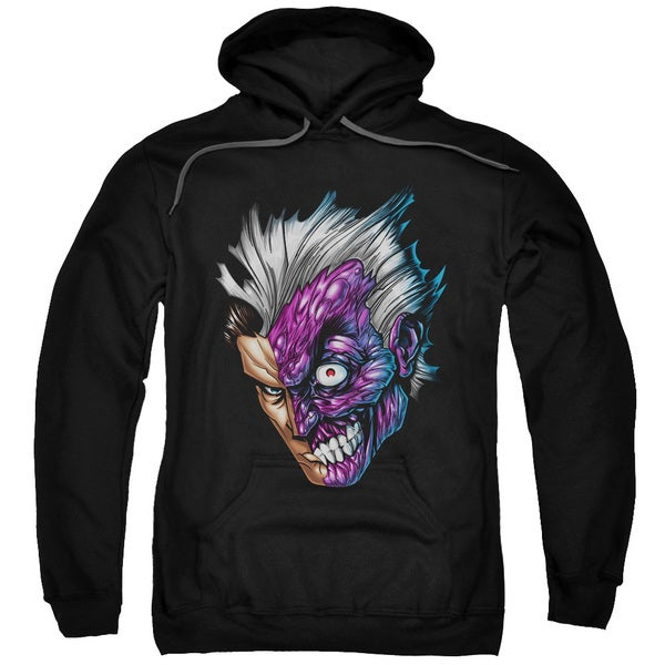 Batman Just Face Adult Black Cotton/Polyester Pullover Hoodie