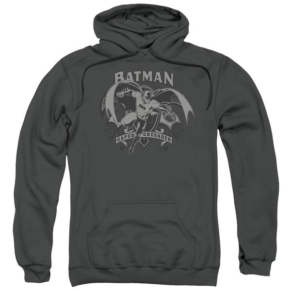 Batman Crusade Charcoal Grey Cotton-blended Pull-over Hoodie