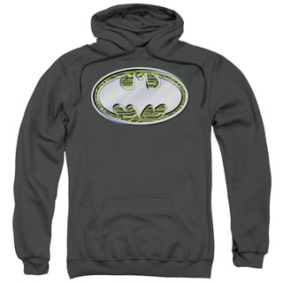 Batman Adult's Circuits Logo Charcoal Cotton/Polyester Pullover Hoodie