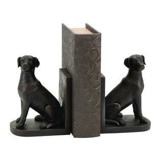 Library Polystone Dog Bookend St 8 inches high x 6 inches wide