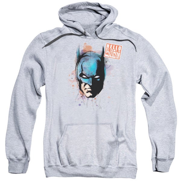 Adult Batman/Hello Athletic Heather Pullover Hoodie