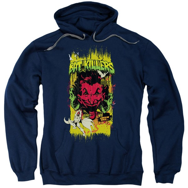 Batman/Bat Killers 2 Adult Navy Pull-over Hoodie