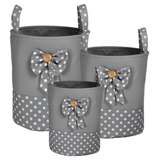 Appealing, Cute Polyester Storage (Set Of 3)-Piece Round