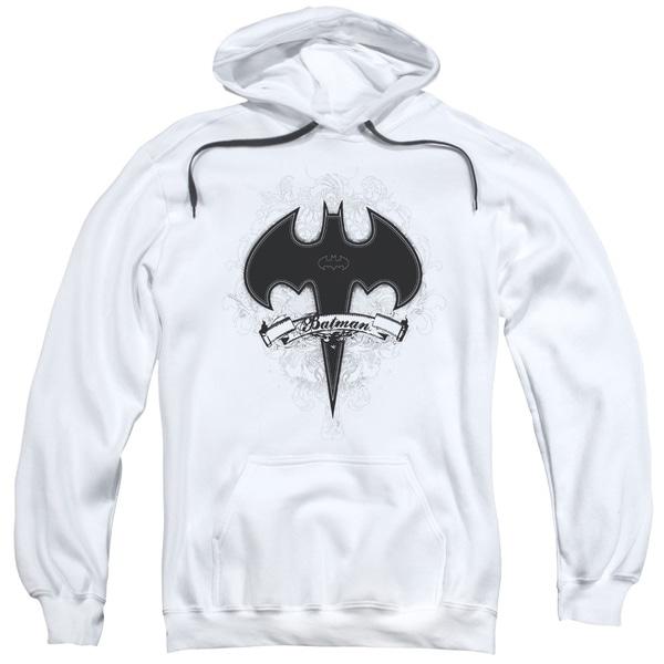 Batman Adults' Gothic Gotham White Pull-over Hoodie