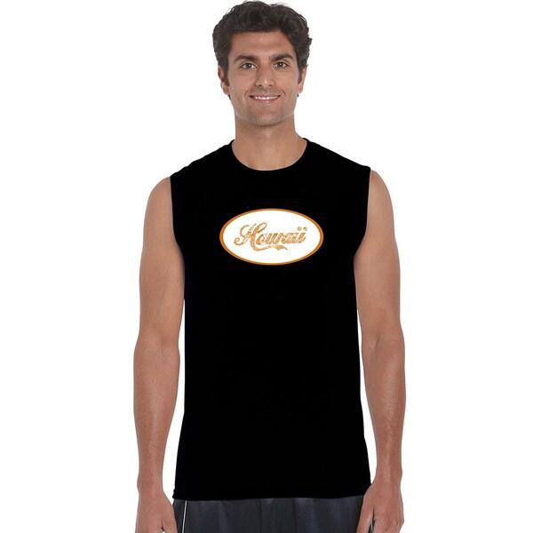 Men's Cotton Sleeveless Hawaiian Names and Imagery T-shirt