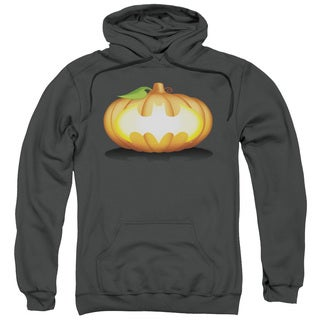 Batman/Bat Pumpkin Logo Charcoal Cotton Polyester Adult Pull-over Hoodie