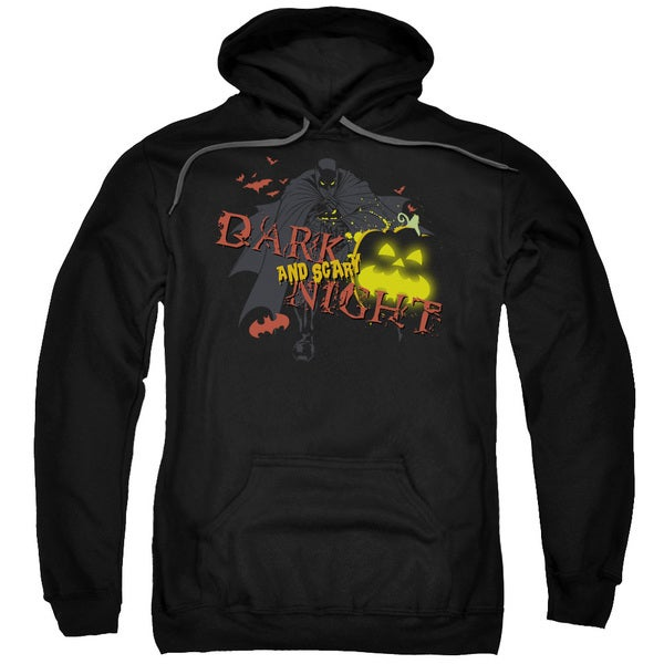 Adult Batman/Dark and Scary Night Black Pullover Hoodie