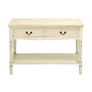 Console With Additional Storage Capability And Brass Handles