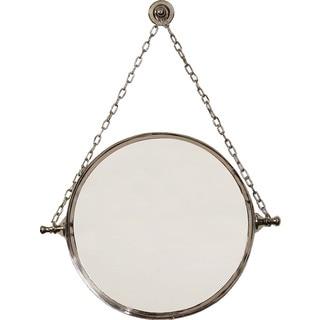 Polished Nickel Finish Mirror on Chain