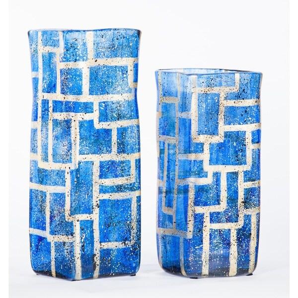 Sapphire Square Vase