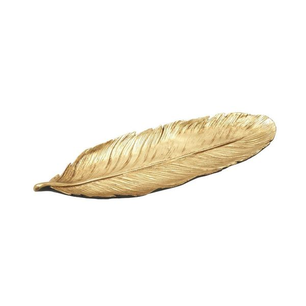 Striking Ps Gold Feather Tray 18649212