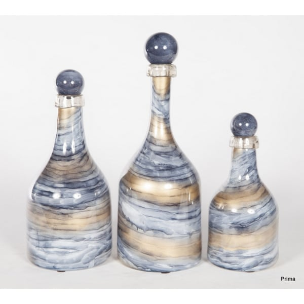 Set of 3 Cheers Bottles with Tops