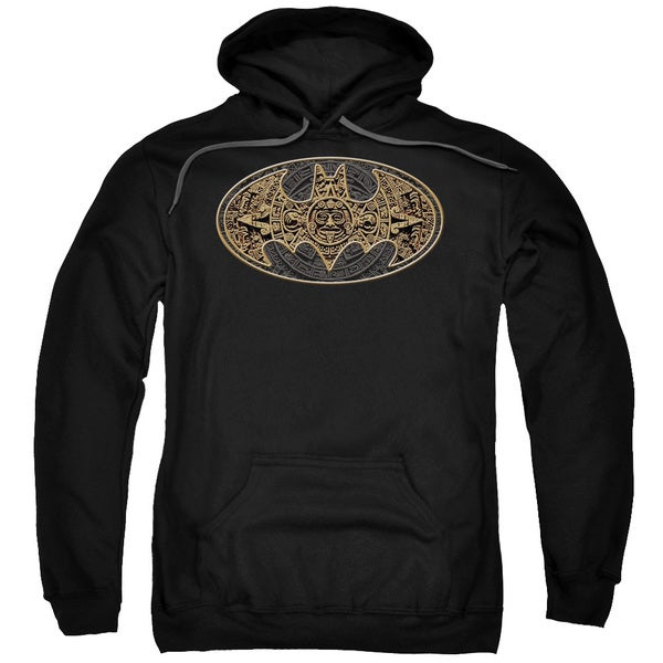 Batman Aztec Bat Logo Adult Black Pullover Hoodie