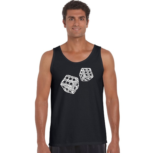 Men's Different Rolls Thrown in the Game of Craps Tank Top