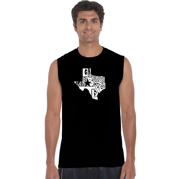 Men's Sleeveless Everything Is Bigger in Texas T-shirt
