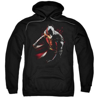Adult Dark Knight Rises/Ready To Punch Black Pullover Hoodie