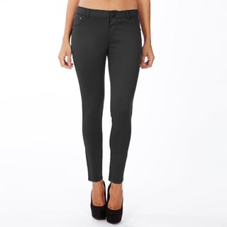 Women's Black Cotton Lycra Casual Style Solid Pattern Machine Washable Legging Pants