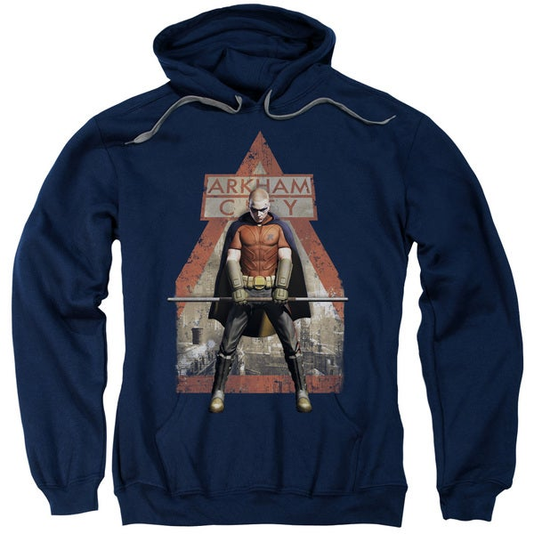 Arkham City/Arkham Robin Adult Navy Cotton/Polyester Pullover Hoodie