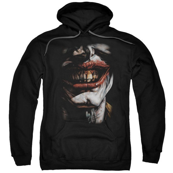 Batman/Smile Of Evil Adult Pull-Over Hoodie in Black