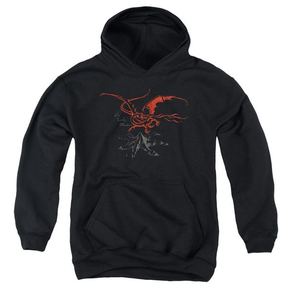 The Hobbit/Smaug Black Youth Pullover Hoodie