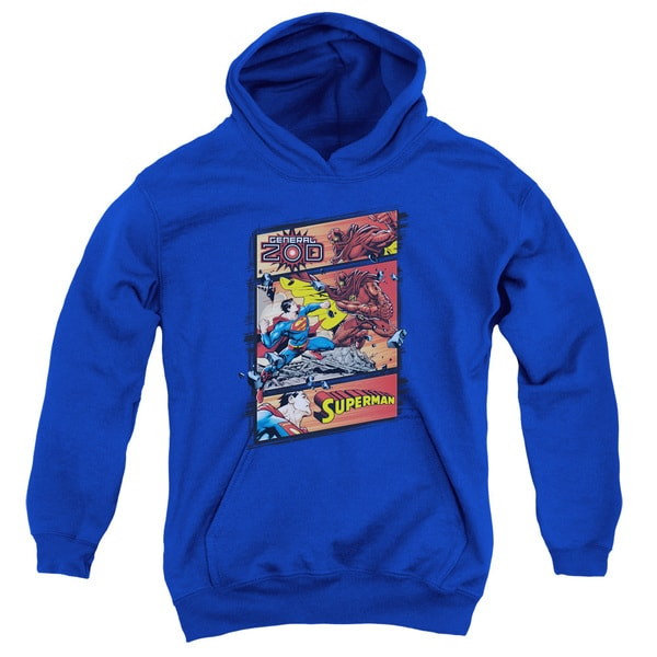 Superman/Superman Vs Zod Youth Royal Blue Pullover Hoodie