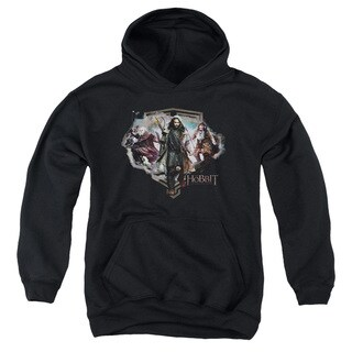 The Hobbit/Three Dwarves Youth Pull-Over Hoodie in Black